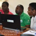 MaryLucy of the Plantwise Knowledge Bank trains participants in data management tools