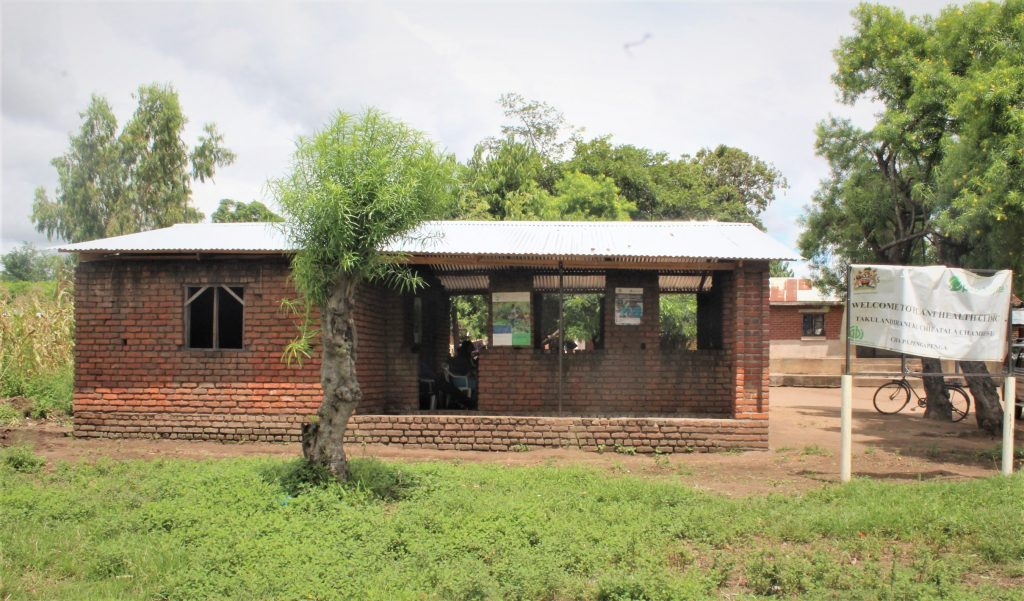 Brick-built Malawi clinic