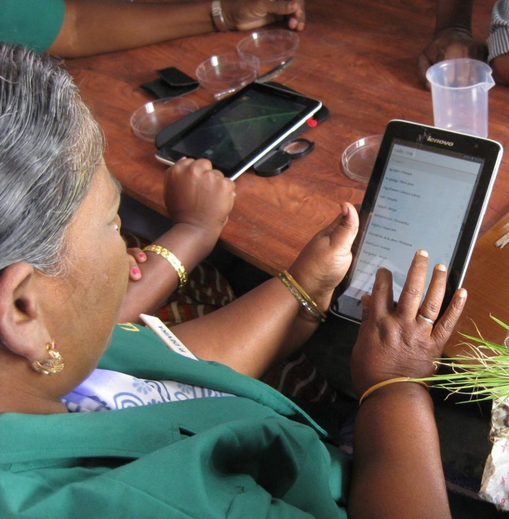 Plant doctors in India use Lenovo tablets to log data