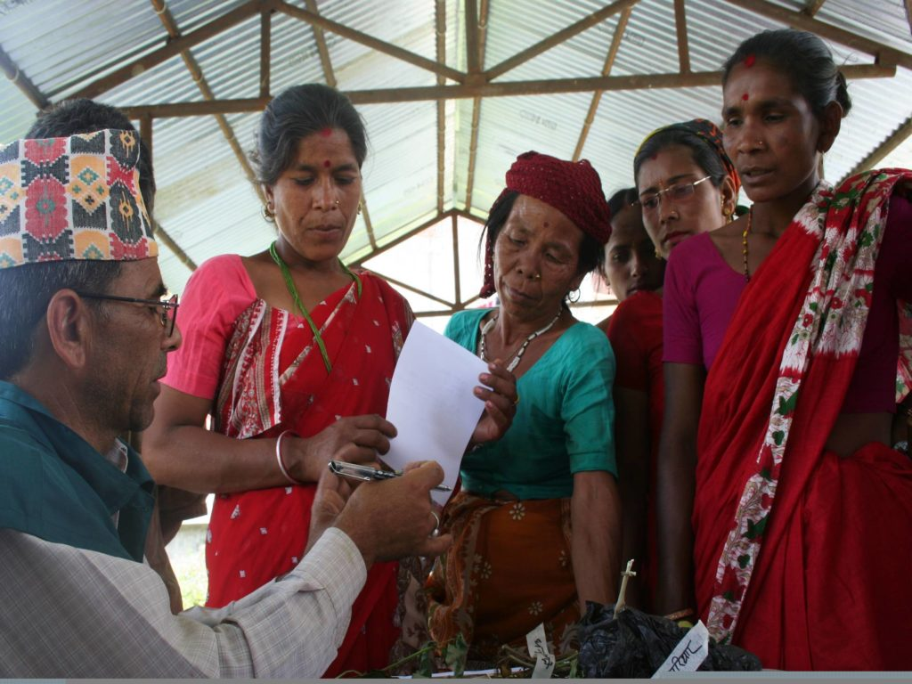 female farmers at a plant clinic in Nepal
