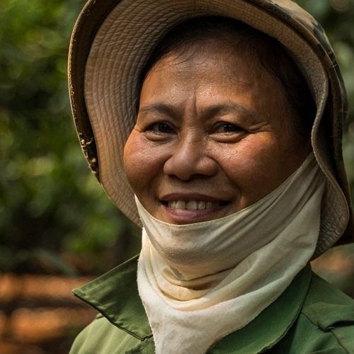 Portrait of a farmer in Vietnam